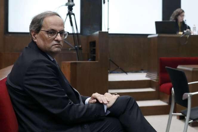 Le président catalan Quim Torra, lundi 18 novembre à Barcelone.