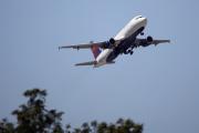 Un Airbus A320 de la compagnie Delta Airlines décolle de l'aéroport JFK de New York, le 24 août.
