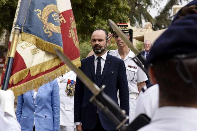 Le premier ministre français, Edouard Philippe, à Dakar, lundi 18 novembre 2019.