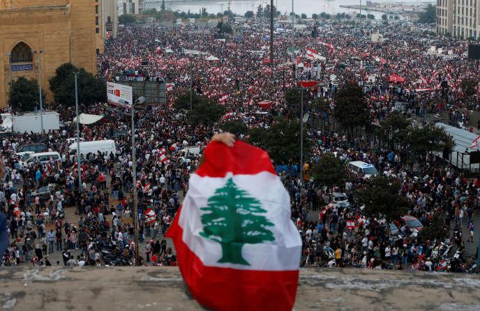 Manifestation à Beyrouth, le 20 octobre 2019.