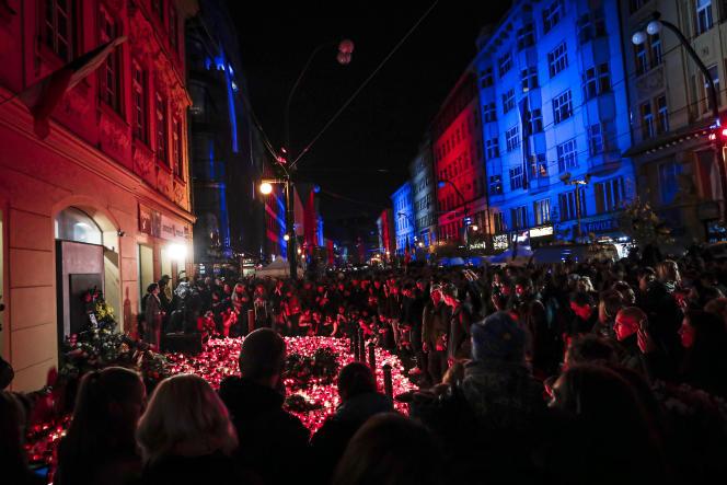 A Prague, le 17 novembre, lors des célébrations des trente ans de la «révolution de velours».