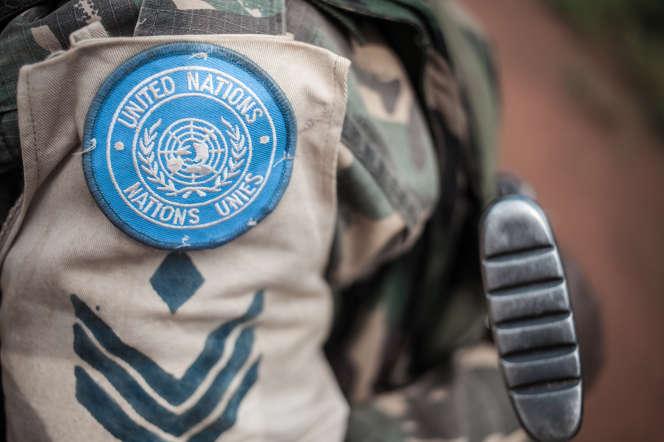 Un soldat de la Minusca à Gamboula, en Centrafrique, en juillet 2018.