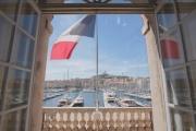 Vue de l'hôtel de ville de Marseille, extraite de «Gaudin, l'heure de l'inventaire».