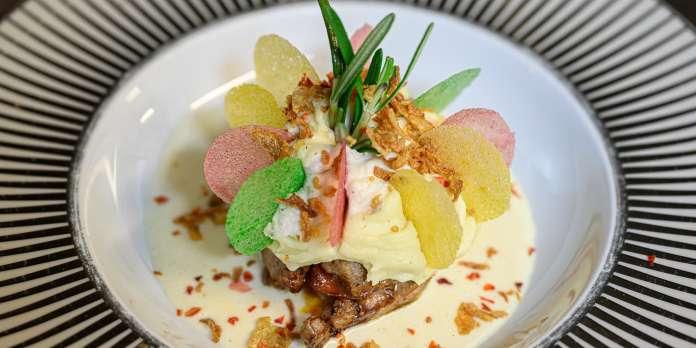 Filet d'Aubrac au thon et crustacés : la recette de Djamel Bouhadda