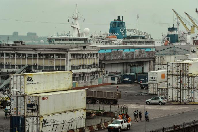 Le port de Douala, au Cameroun, en mars 2018.