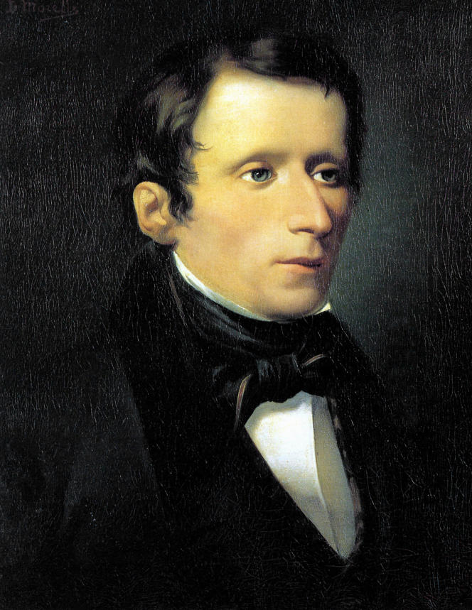 Portrait de Giacomo Leopardi (1798-1837) par Domenico Morelli.