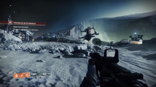 Sur« Destiny2», superbe, une légère latence dans les commandes rappelle parfois que l'on joue au jeu à distance.