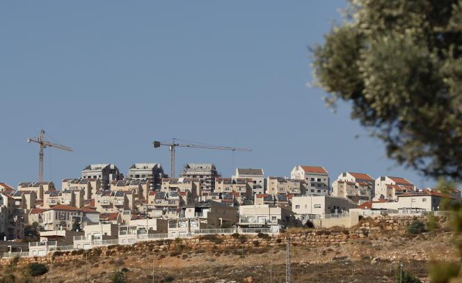 La colonie de Psagot, le 19 novembre 2019, à seulement un kilomètre du centre de la ville palestinienne de Ramallah.