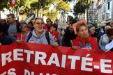 Marche de protestation contre la réforme des retraites, à Marseille, le 8 octobre.