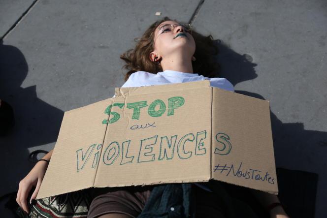 Manifestation contre les violences faites aux femmes, à Paris, en septembre 2018.