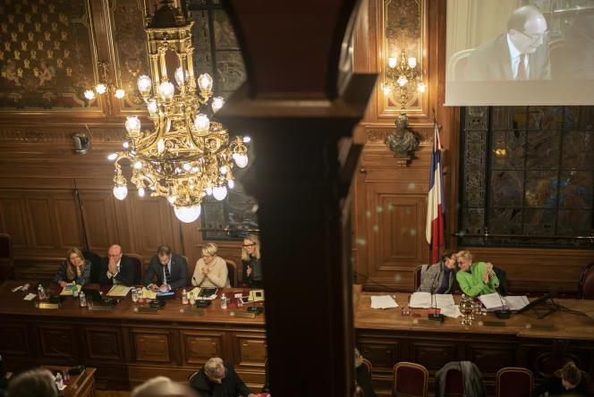 Le conseil municipal de la ville de Levallois-Perret, présidé par Isabelle Balkany, le 18 novembre.