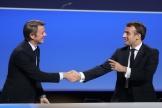 François Baroin et Emmanuel Macron à Paris, le 19 novembre.