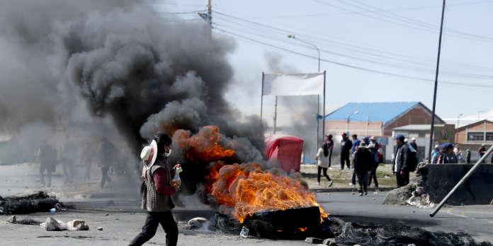 Bolivie : trois morts dans de nouveaux heurts près de La Paz