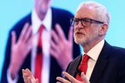 Jeremy Corbyn, le chef du Parti travailliste, lors de la conférence annuelle du patronat britannique, lundi 18 novembre, à Londres.
