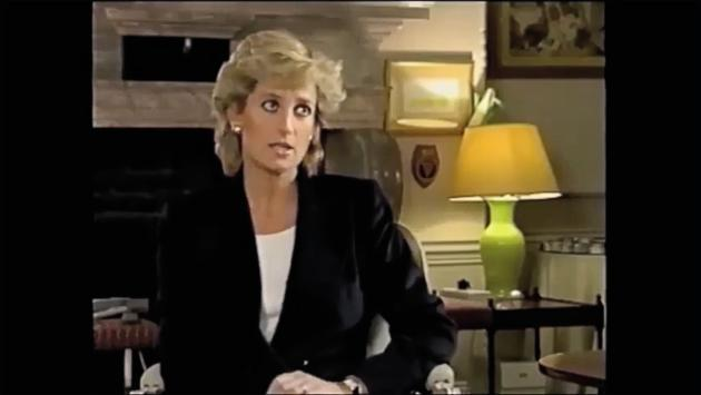 La princesse Diana lors de son interview, en novembre 2015.