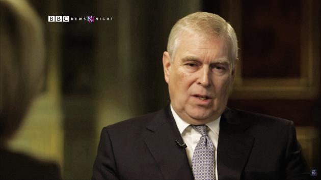 Le prince Andrew lors de son interview télévisée sur la BBC, le 16 novembre.