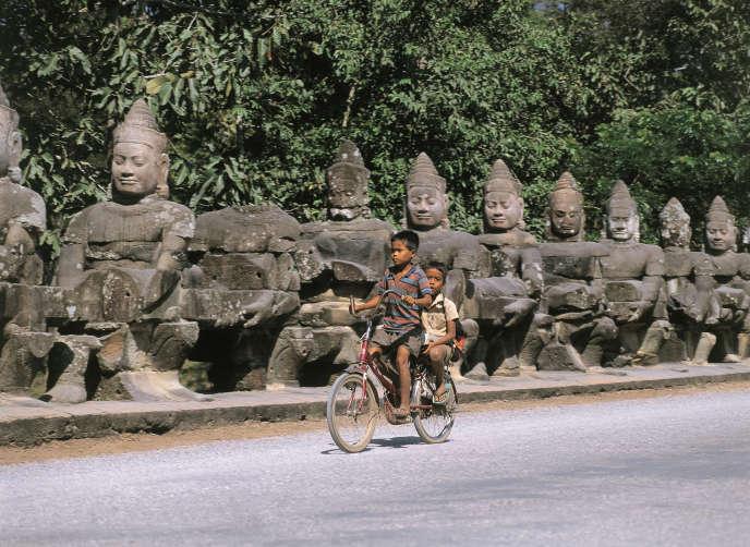 Dans la cité royale d'Angkor Thom, au Cambodge.