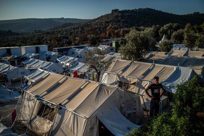 Le camp de migrants de Moria, sur l'île greque de Lesbos, en août 2019.