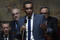 Le député Saïd Ahamada, lors des questions au gouvernement, à Paris, le 15 janvier.