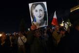 Les manifestants réclament la démission de Joseph Muscat à Valletta (Malte), le mercredi 20 novembre.