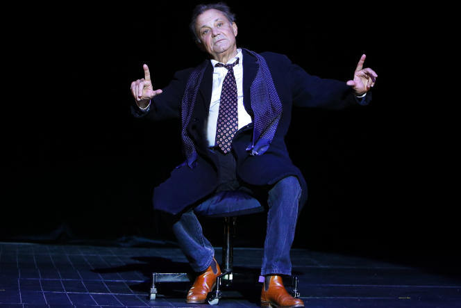 Philippe Caubère dans «Le Casino de Namur II» au Théâtre du Rond-Point, à Paris.