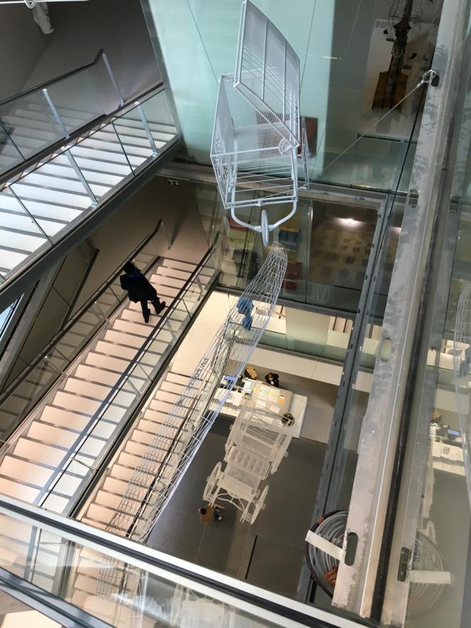 Accès aux salles d'exposition permanente au Musée de La Poste.