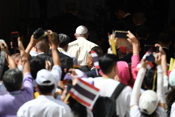 Le pape François, le 21 novembre à Bangkok.