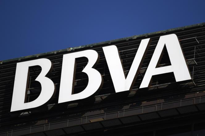 Les bureaux de la banque espagnole BBVA, à Madrid, en septembre 2018.