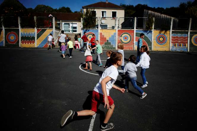 La cour de récréation d'une école primaire dans le Calvados, en septembre 2018.