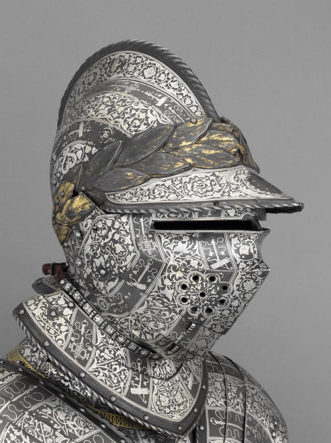Armure du dauphin, futur Henri II, entre 1536 et 1547, Musée de l'armée, à Paris.