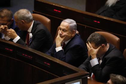 Benyamin Nétanyahou le 3 octobre à la Knesset, le Parlement israélien, à Jérusalem.