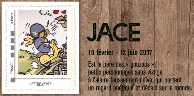 Timbre de Jace, dans un collector édité par le Musée consacré au street art.