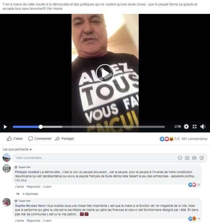 Cette vidéo, postée le 5novembre sur Facebook, a été vue plus de 200000 fois deux semaines plus tard.