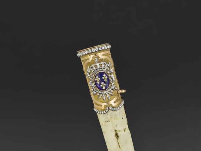 Epée de diamants de Louis XVI, 1784-1789, Musée de l'armée, à Paris.