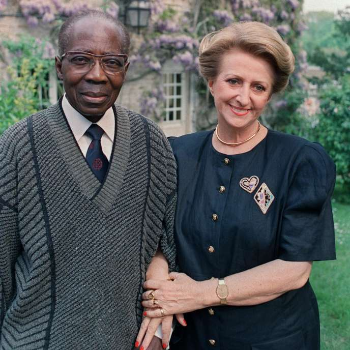 Avec Leopold Sedar Senghor, à Verson ( Calvados), en 1989.