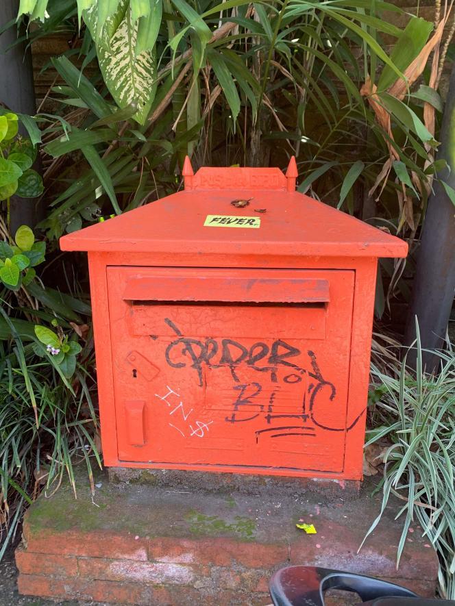 Boîte aux lettre d'Ubud (Indonésie)... Est-elle encore utilisée?...