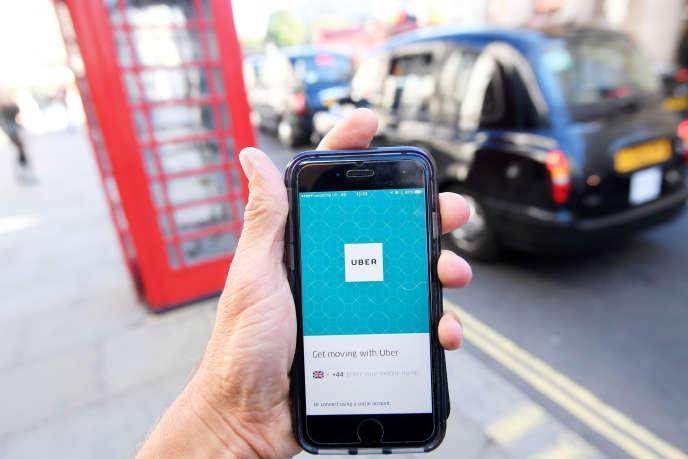La licence d'Uber à Londres expirait ce lundi à minuit sans avoir été renouvelée. Ici, en 2017.