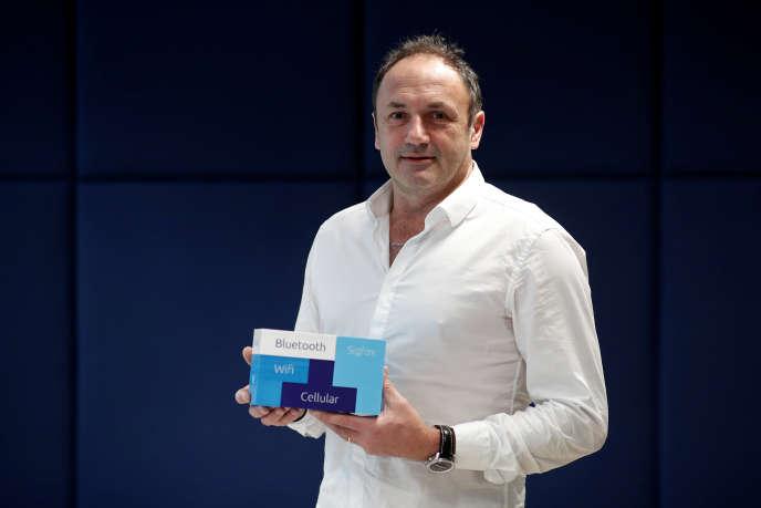 Le patron de Sigfox, Ludovic Le Moan, à Paris, en février 2018.