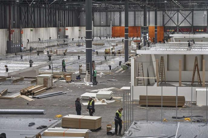 Préparations de la COP25 au palais des foires de Madrid, l'Ifema, le20 novembre