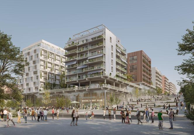 Le projet du groupement CDC et Icade pour le futur village olympique à Saint-Ouen, en Seine-Saint-Denis.