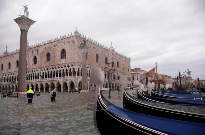 Vue de Venise vendredi 15 novembre.