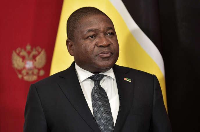 Le président mozambicain, Filipe Nyusi, à Moscou, le 22août 2019.