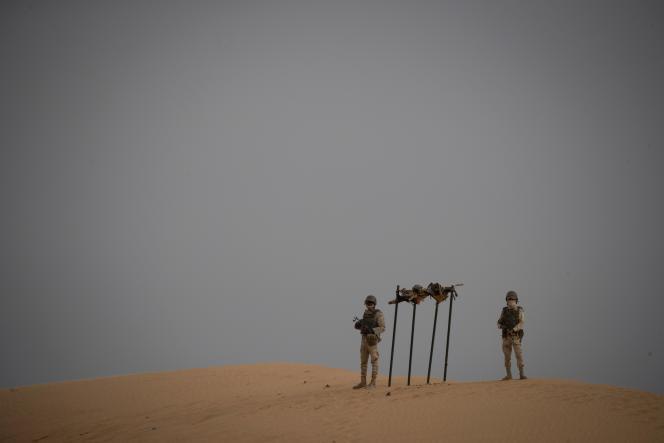 Des soldats mauritaniens près de la frontière avec le Mali, en novembre 2018.