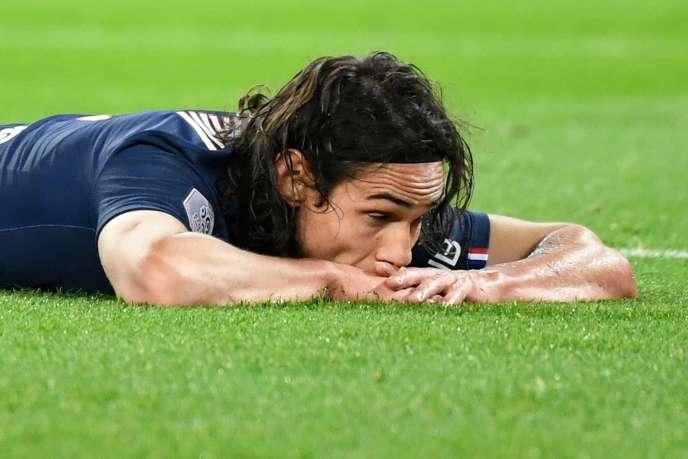 L'attaquant du Paris-Saint-Germain Edinson Cavani.