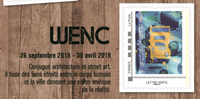 Timbre de Wenc issu du collector sur le street art diffusé par Le Musée de La Poste comprenant dix timbres (11,50 euros, tirage 8000 exemplaires).