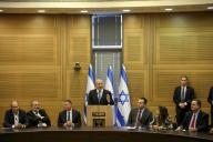 Benyamin Nétanyahou lors d'une réunion des partis de droite à la Knesset à Jérusalem, le 20 novembre.