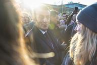 Emmanuel Macron, président de la République, visite l'Université de Picardie - Jules Vernes à Amiens, jeudi 21 novembre 2019
