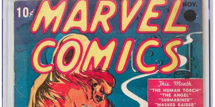 Vente aux enchères : prix record pour la toute première bande dessinée Marvel