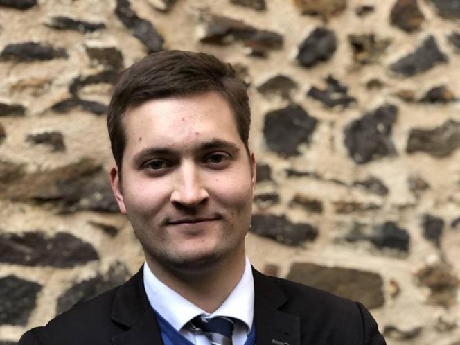 Louis de Cacqueray-Valmenier, tête de liste du Rassemblement national auxmunicipales de mars 2020 au Mans, en octobre 2017.