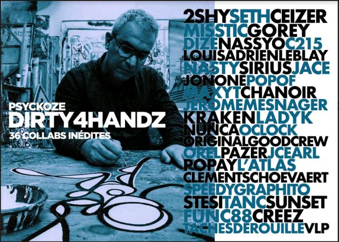 Carton d'invitation de l'exposition Dirty4Handz.